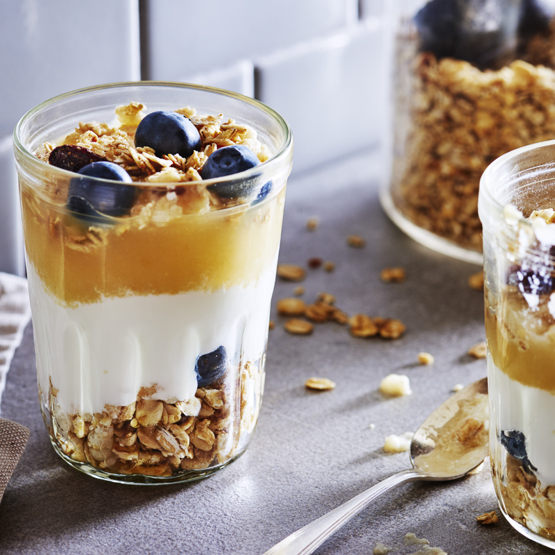 Applesauce Greek Yogurt Parfait