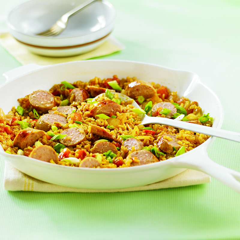 Sausage and Spanish Rice Skillet Dinner