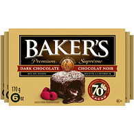 Baker's 70% Dark Chocolate Squares