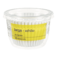 Baking Cups, Large White
