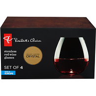 Stemless Red Wine Glass 4-Pack