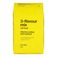 3-Flavour Mix Cat Food, Chicken, Turkey and Seafood