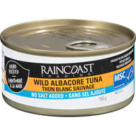 Wild Solid White Albacore Tuna, No Salt Added