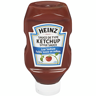Low Sodium Ketchup, Upside Down Squeeze Bottle