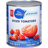 Blue Menu Tomatoes, Diced No Salt