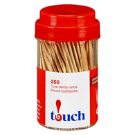 Round Cinnamon Flavoured Toothpicks in Jar