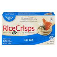Want-Want Superslim Brown Rice Crisps, Sea Salt