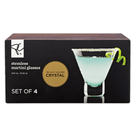 Stemless Martini Glass 4-Pack