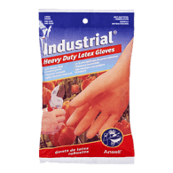 Industrial Heavy Duty Latex Gloves, Large