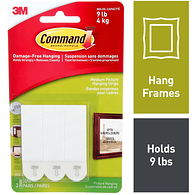 Command Picture Hanging Strips, 3 Sets of Medium