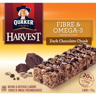 Harvest Granola Bars, Fibre & Omega-3 - Dark Chocolate Chunk