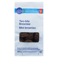 Blue Menu Brownies, Two Bite