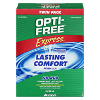 Express Contact Lens Solution, Twin Pack