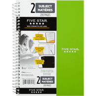9x6 2-Subject Notebook