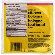 Beef Bologna, Sliced