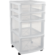 4-Drawer White Tower
