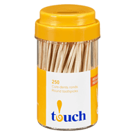 Natural Round Toothpicks Jar