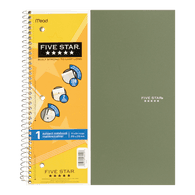 5 Subject Notebook, 200 Sheets