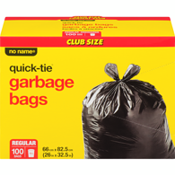 Quick-Tie Garbage Bags, Regular
