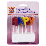 Candles, Happy Birthday