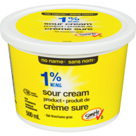 Sour Cream, Fat Free 1%
