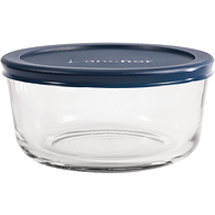 Round Kitchen Storage with Lid, 4 Cup, Blue