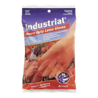 Industrial Heavy Duty Latex Gloves, Medium