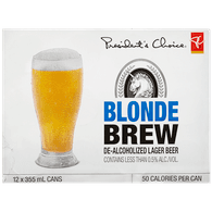 Non-Alcoholic Blonde Brew Beer