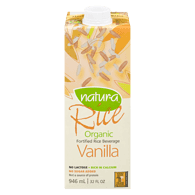 Organic Rice Beverage, Enriched Vanilla
