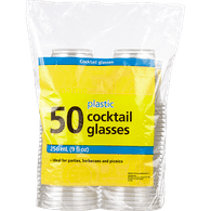 Plastic Cocktail Glasses, 9oz