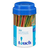 Coloured Round Toothpicks in a Jar