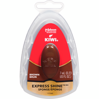 Leather Express Shine Sponge, Brown