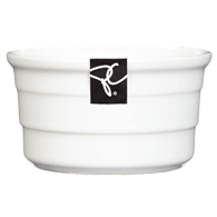 White Ribbed Ramekin