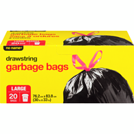 Drawstring Garbage Bags, Large