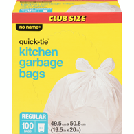 Quick-Tie Kitchen Garbage Bags, Regular