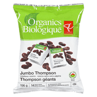 Jumbo Thompson Seedless Raisins Snack Packs