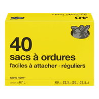 Sacs à ordures ordinaires Quick-Tie