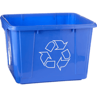 Blue Recycle Bin, 42L