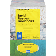 Facial Tissues, 2 Ply