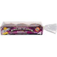 Ezekiel 4:9 Flourless Sprouted Whole Grain English Muffins, Cinnamon Raisin