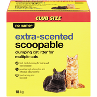 Scoopable Clumping Cat Litter for Multiple Cats, Extra Scented