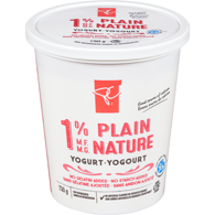 Yogurt, Plain 1%