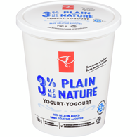 Yogurt, Plain 3%