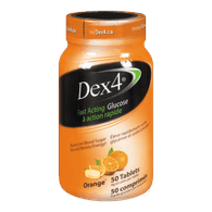 Dex4 Glucose Tablets, Orange