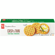 Crisp & Thin Crackers, Low Salt