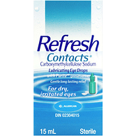 Refresh Contacts Lubricating Eye Drops with Purite