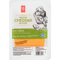 Sliced Medium Cheddar Cheese