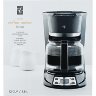 12-Cup Digital Coffee Maker, Black
