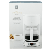 12-Cup Digital Coffee Maker, White