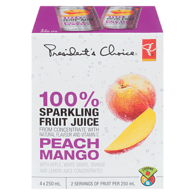 100% Sparkling Fruit Juice, Peach Mango